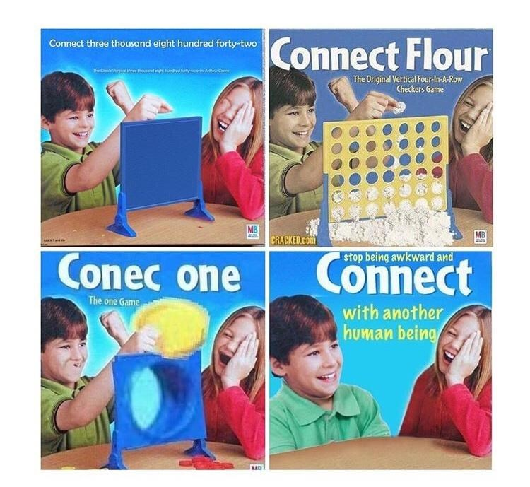 Photograph - Connect Flour Connect three thousand eight hundred forty-two The Original Vertical Four-In-A-Row Checkers Garme MB CRACKED.com MB Conec one Connect stop being awkward and The one Game with another human being