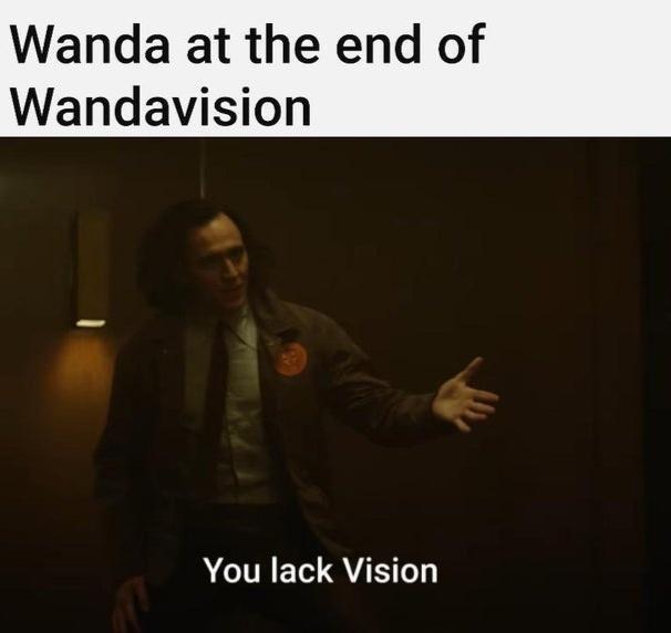 Sleeve - Wanda at the end of Wandavision You lack Vision