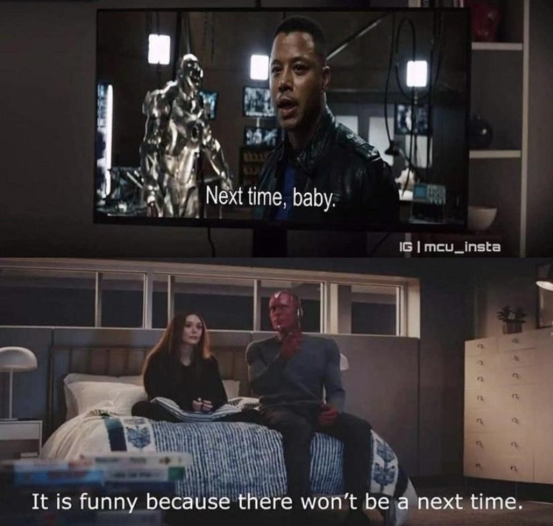 Photograph - Next time, baby. IG | mcu_insta It is funny because there won't be a next time.