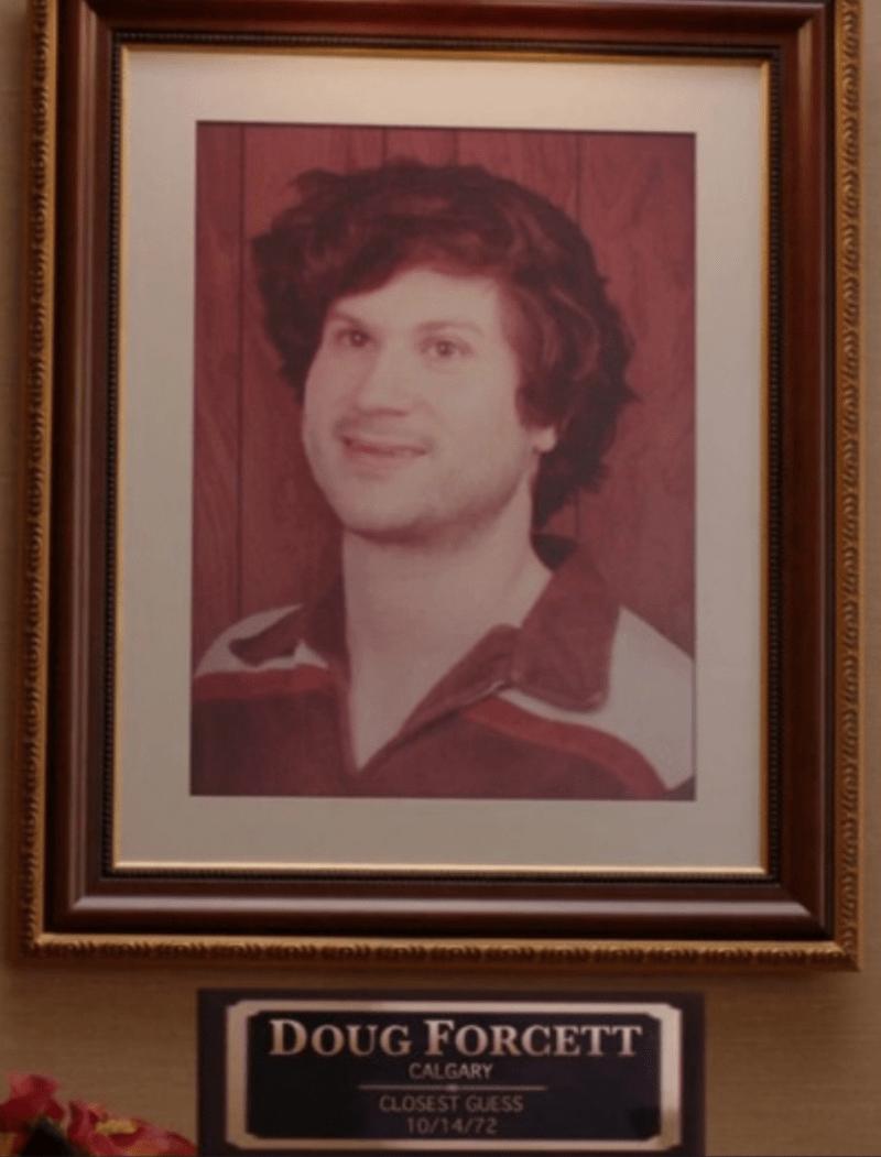 Forehead - DOUG FORCETT CALGARY CLOSEST GUESS 10/14/72