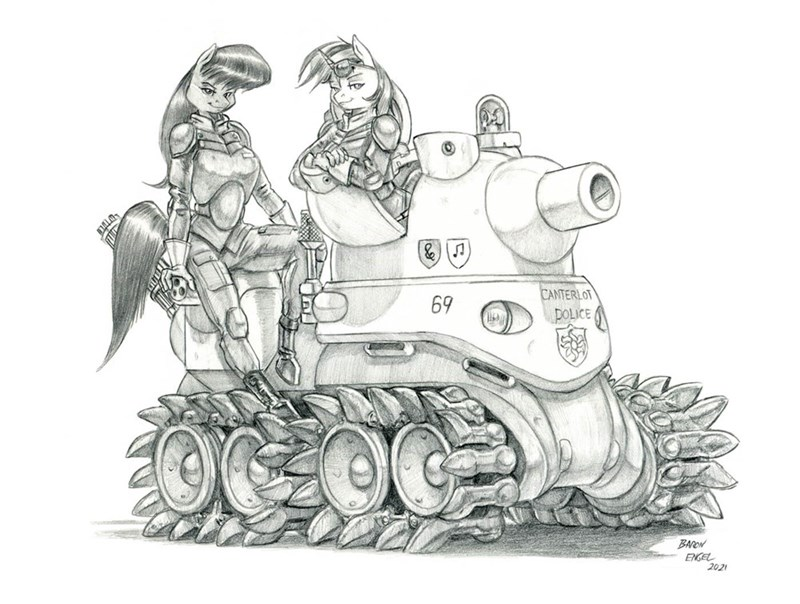 dominion tank police vinyl scratch anthropomorphic octavia baron engel - 9620690688