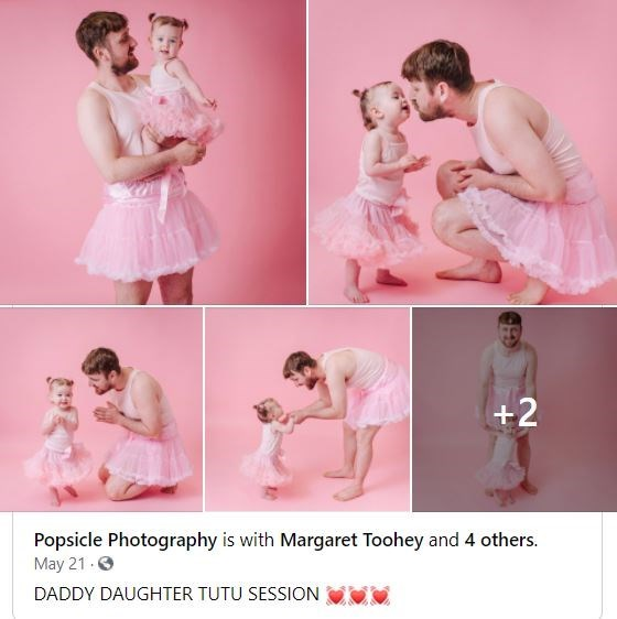 Joint - +2 Popsicle Photography is with Margaret Toohey and 4 others. May 21 O DADDY DAUGHTER TUTU SESSION
