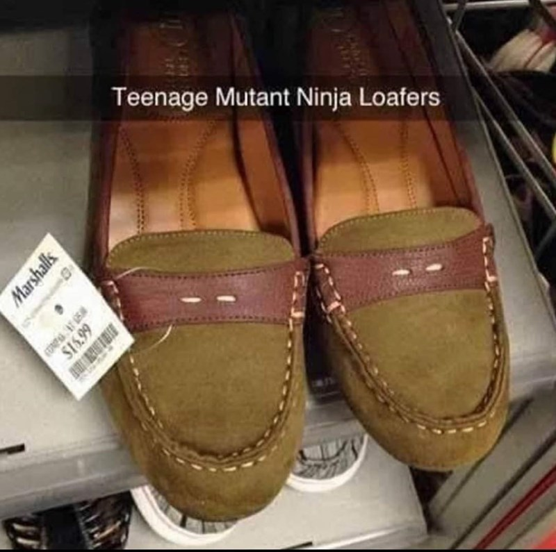 Brown - Teenage Mutant Ninja Loafers Marshalls S1.99