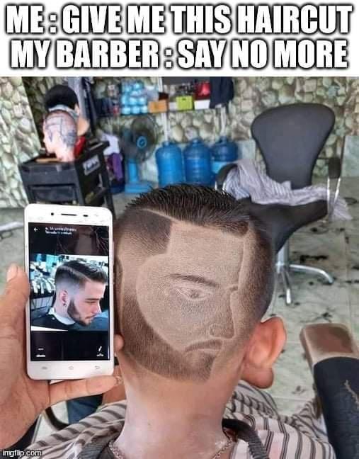 Forehead - ME:GIVE ME THIS HAIRCUT MYBARBER:SAY NO MORE ingflip com