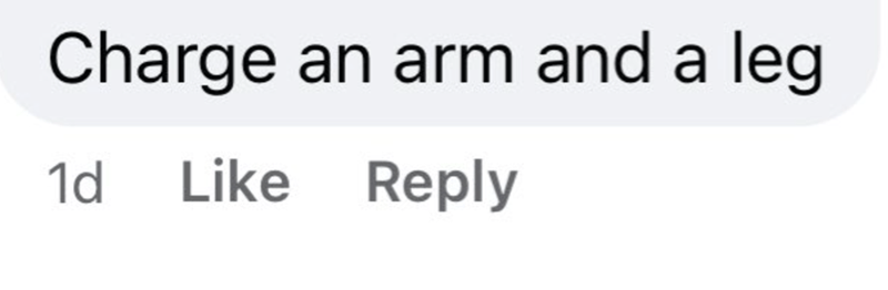 Font - Charge an arm and a leg 1d Like Reply