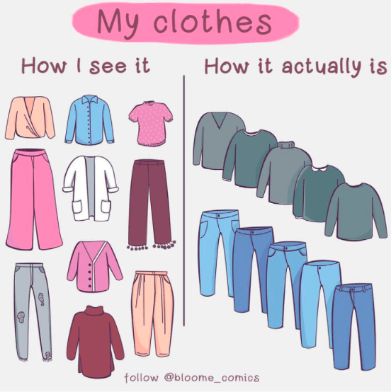 Sleeve - My clothes How I see it How it actually is follow @bloome_comics