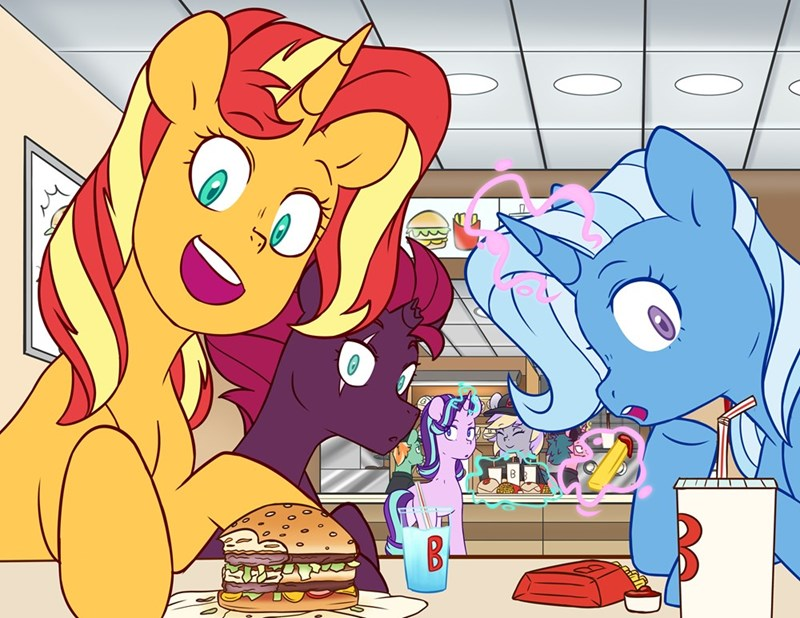 tempest shadow the great and powerful trixie OC starlight glimmer chub-wub sunset shimmer - 9622044928