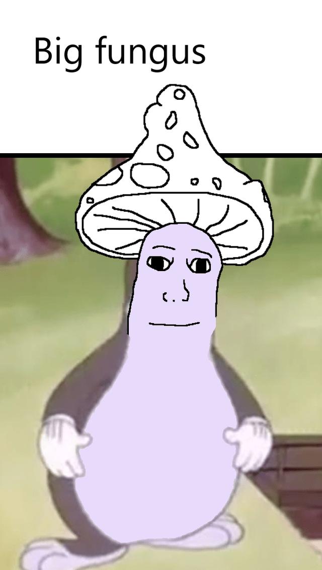 Cartoon - Big fungus
