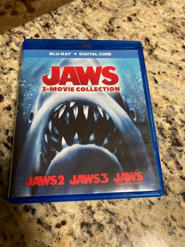 Automotive tire - BLU-RAY + DIGITAL CODE JAWS 3-MOVIE COLLECTION JAWS2 JAWS3 JAWS THE REVENGE