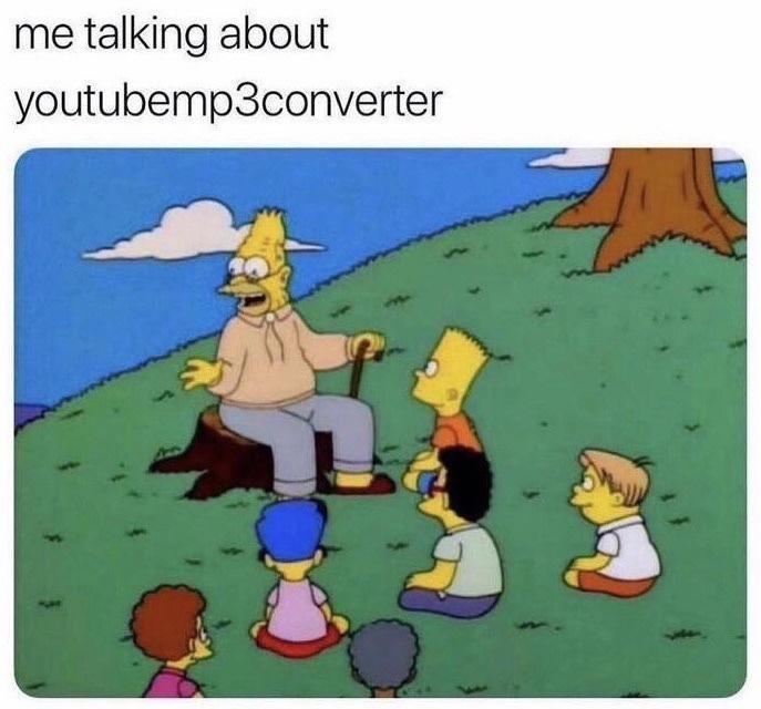 Cartoon - me talking about youtubemp3converter
