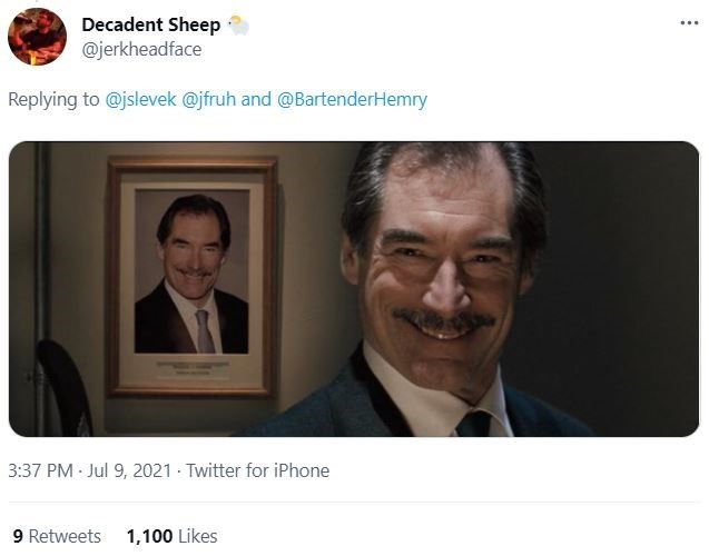 Smile - Decadent Sheep @jerkheadface ... Replying to @jslevek @jfruh and @BartenderHemry 3:37 PM Jul 9, 2021 Twitter for iPhone 9 Retweets 1,100 Likes