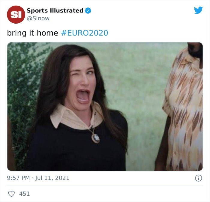 Eyebrow - SI Sports Illustrated @SInow bring it home #EURO2020 9:57 PM Jul 11, 2021 451
