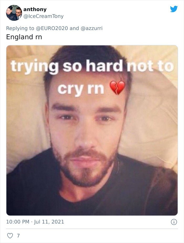 Forehead - anthony @lceCreamTony Replying to @EURO2020 and @azzurri England rn trying so hard not to cry rn 10:00 PM · Jul 11, 2021 7