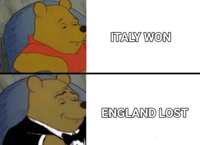 Facial expression - ITALY WON ENGLAND LOST