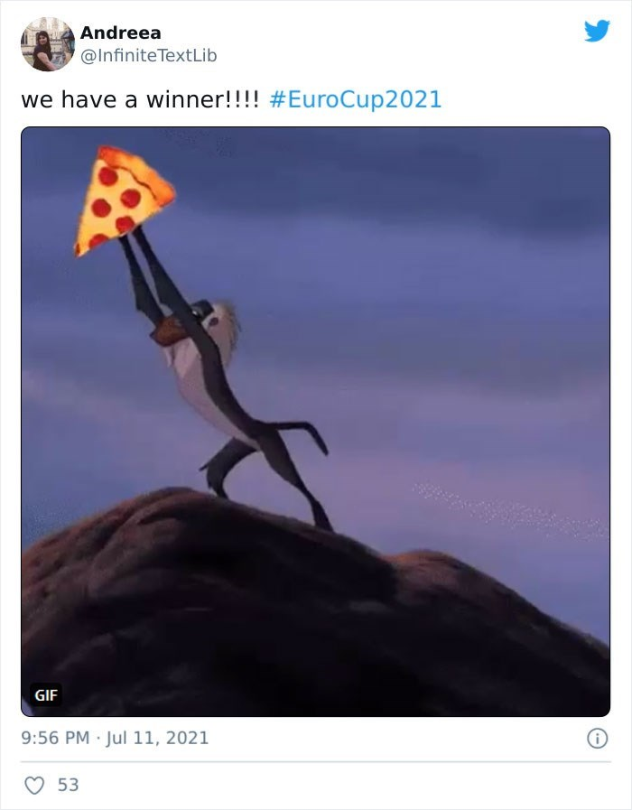 Sky - Andreea @Infinite TextLib we have a winner!!!! #EuroCup2021 GIF 9:56 PM Jul 11, 2021 53