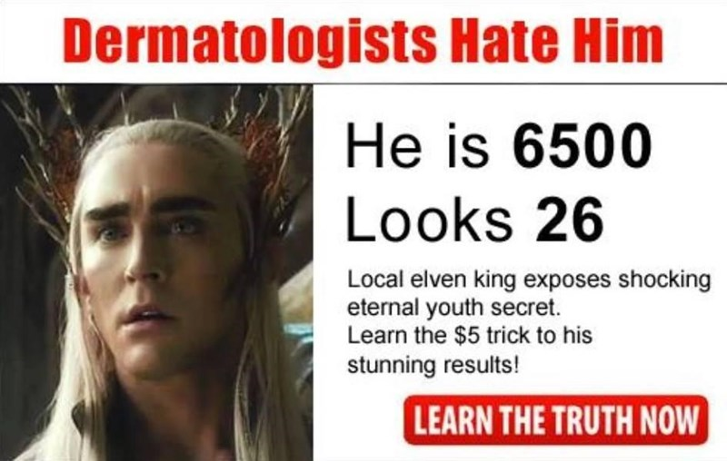 Hair - Dermatologists Hate Him He is 6500 Looks 26 Local elven king exposes shocking eternal youth secret. Learn the $5 trick to his stunning results! LEARN THE TRUTH NOW