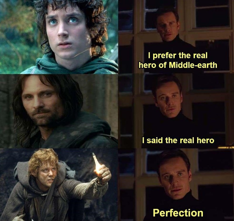 Face - I prefer the real hero of Middle-earth I said the real hero Perfection