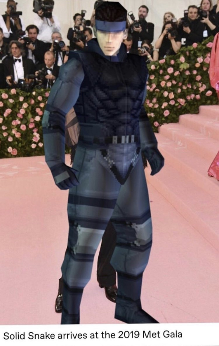 Thigh - Solid Snake arrives at the 2019 Met Gala