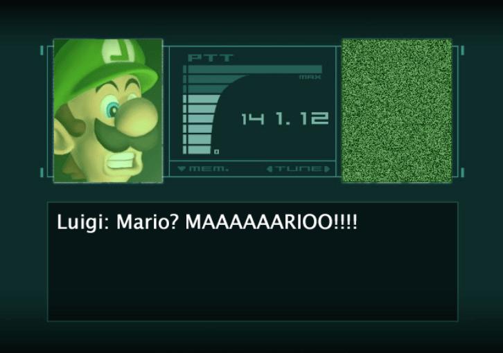 Organism - PTT MAX 14 1. 12 METm. TLINE Luigi: Mario? MAAAAAARIOO!!!!