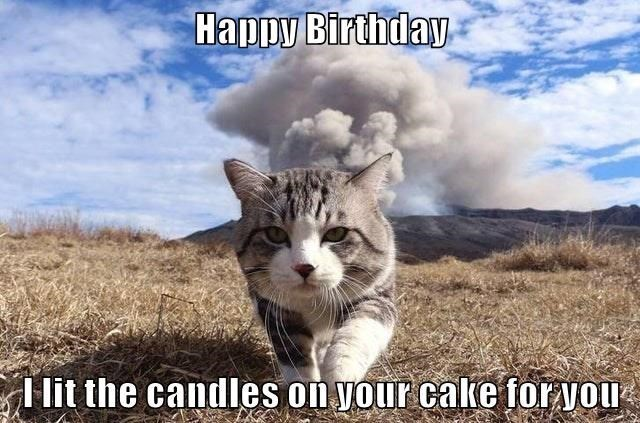 Cloud - Happy Birthday I lit the candles on your cake for you