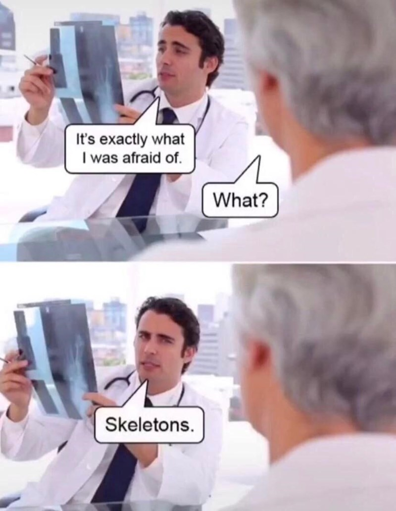 Shirt - It's exactly what I was afraid of. What? Skeletons.