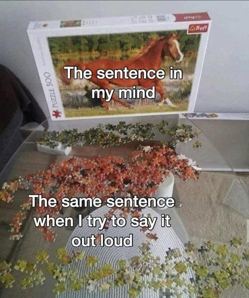 Plant - Tref The sentence in my mind The same sentence when I try to say it out loud PUZZLE 500