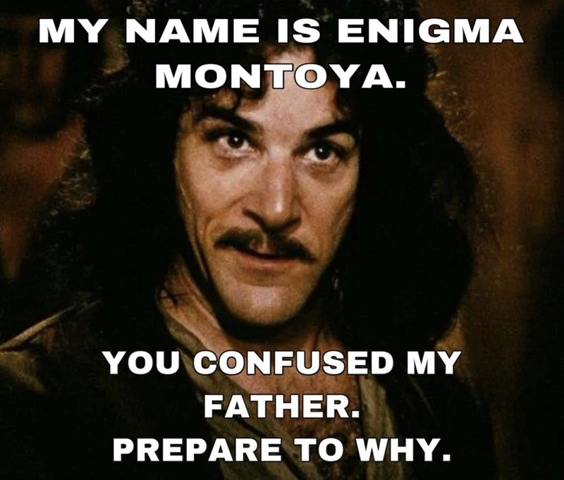Hairstyle - MY NAME IS ENIGMA MONTOYA. YOU CONFUSED MY FATHER. PREPARE TO WHY.