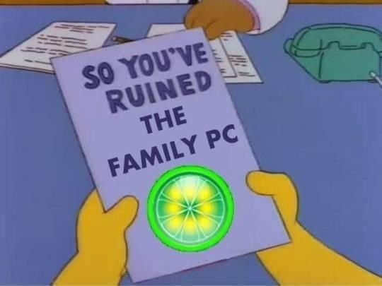 Yellow - SO YOU'VE RUINED THE FAMILY PC