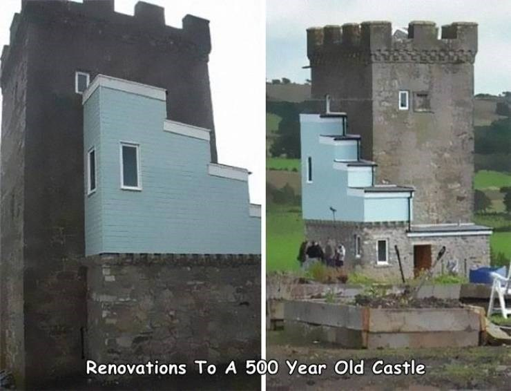 Building - Renovations To A 500 Year Old Castle
