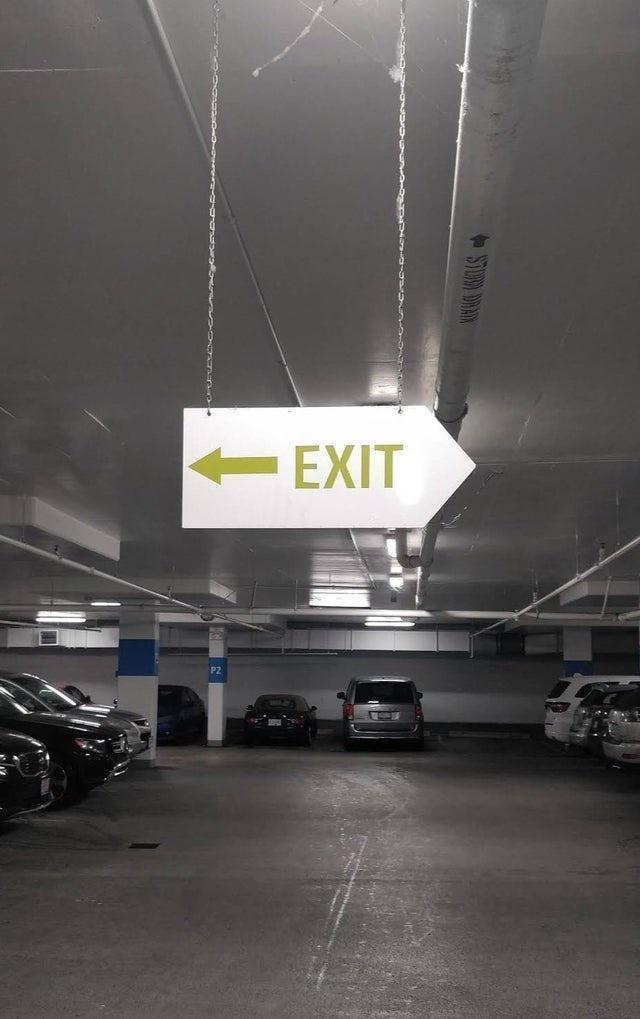 Automotive parking light - EXIT
