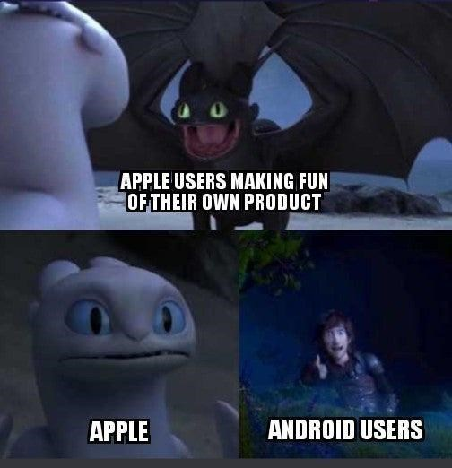 Photograph - APPLE USERS MAKING FUN OF THEIR OWN PRODUCT APPLE ANDROID USERS