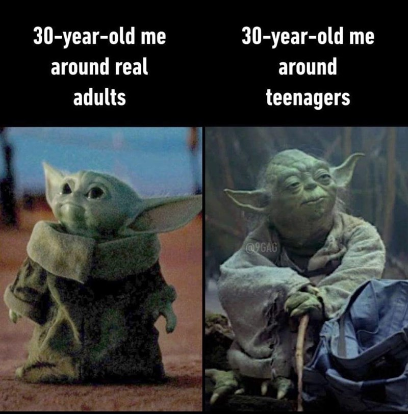 Cat - 30-year-old me 30-year-old me around real around adults teenagers @9GAG