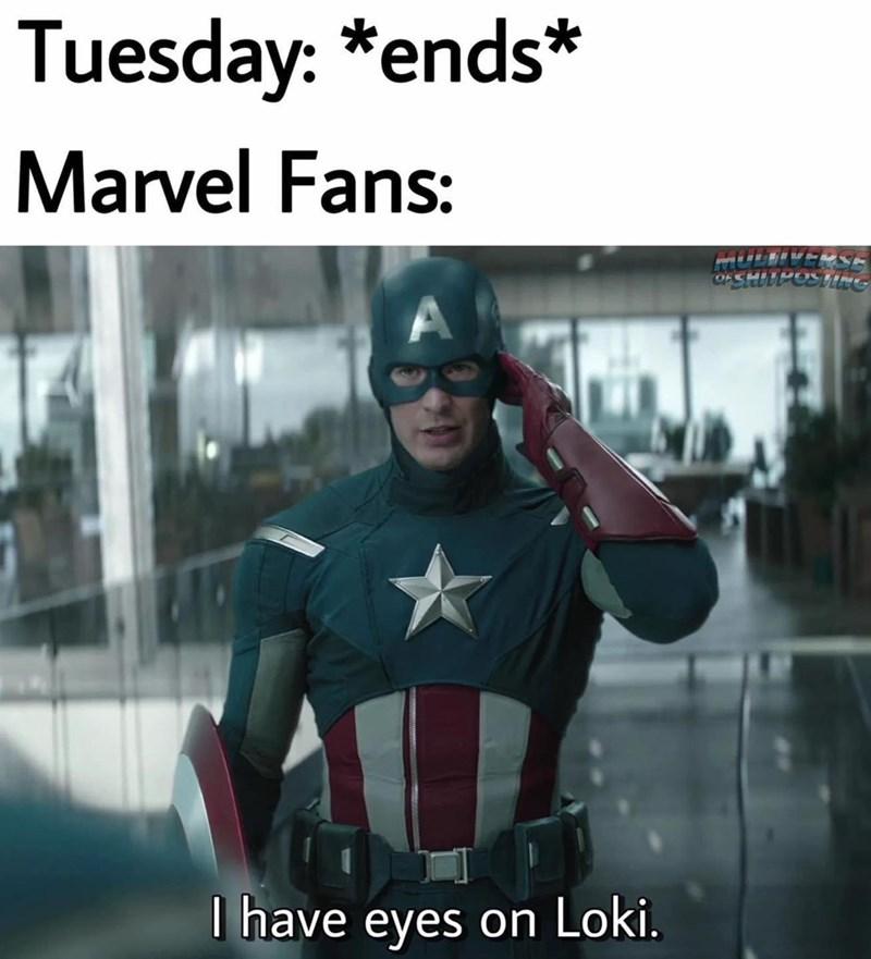 Sleeve - Tuesday: *ends* Marvel Fans: I have eyes on Loki.