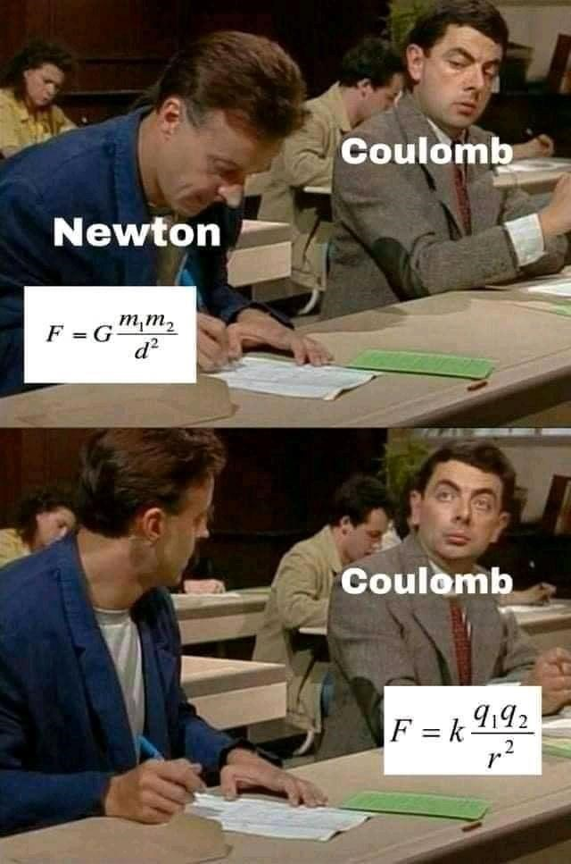 Clothing - Coulomb Newton F =Gm,m, d? Coulomb F = k 9192