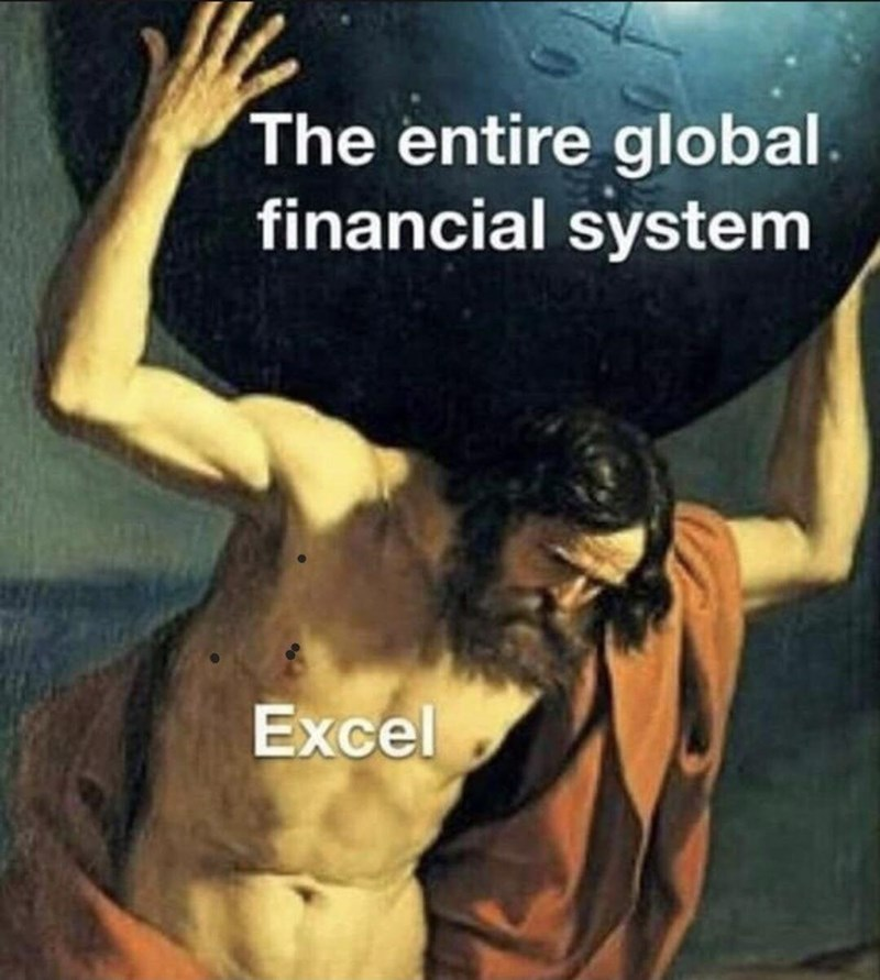 Font - The entire global. financial system Excel