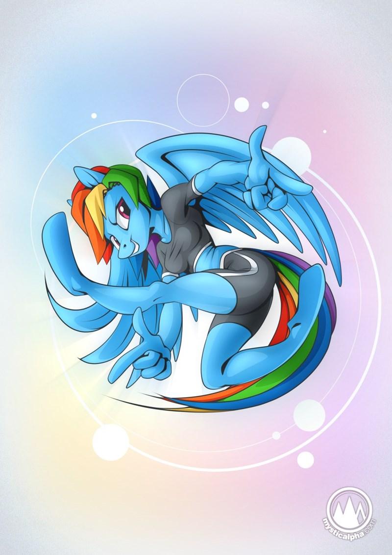 sonic the hedgehog anthropomorphic rainbow dash mystic alpha - 9624828416