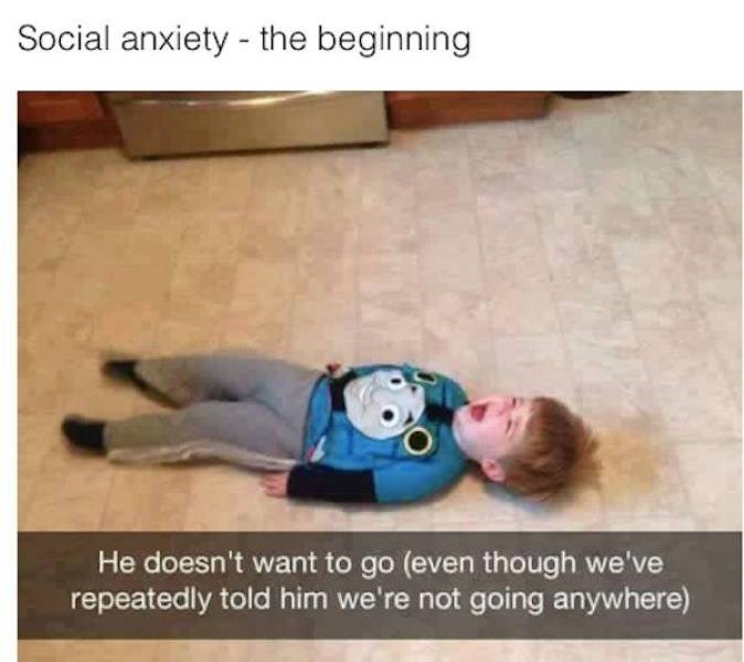 Organism - Social anxiety - the beginning He doesn't want to go (even though we've repeatedly told him we're not going anywhere)