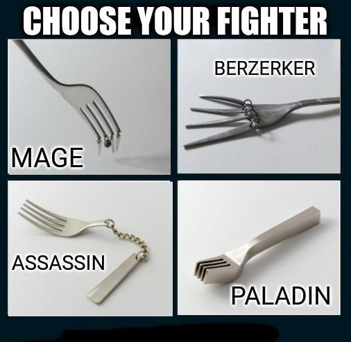 Product - CHOOSE YOUR FIGHTER BERZERKER MAGE ASSASSIN PALADIN
