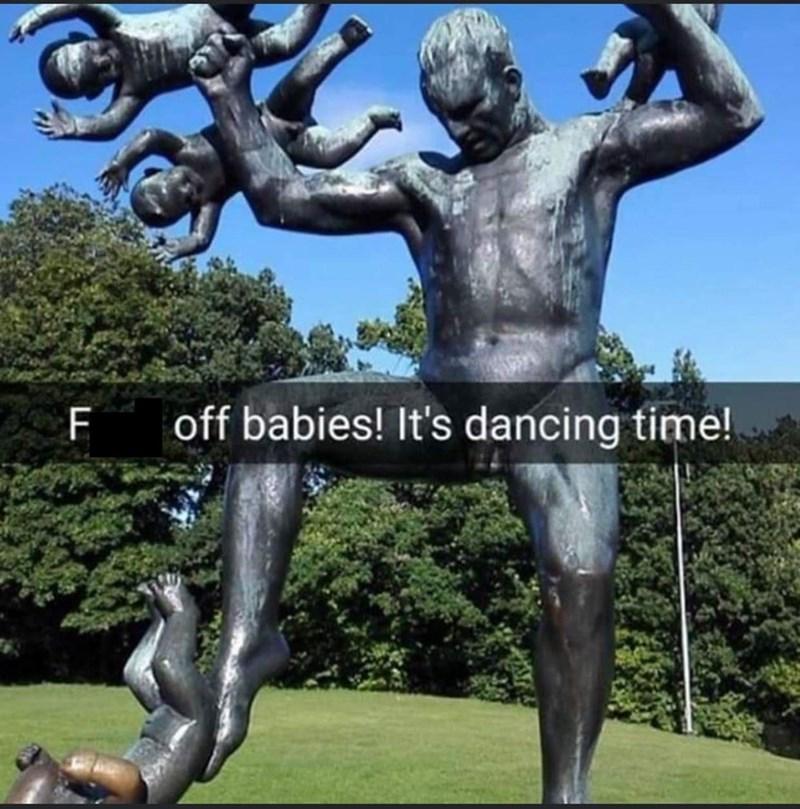 Sky - off babies! It's dancing time!