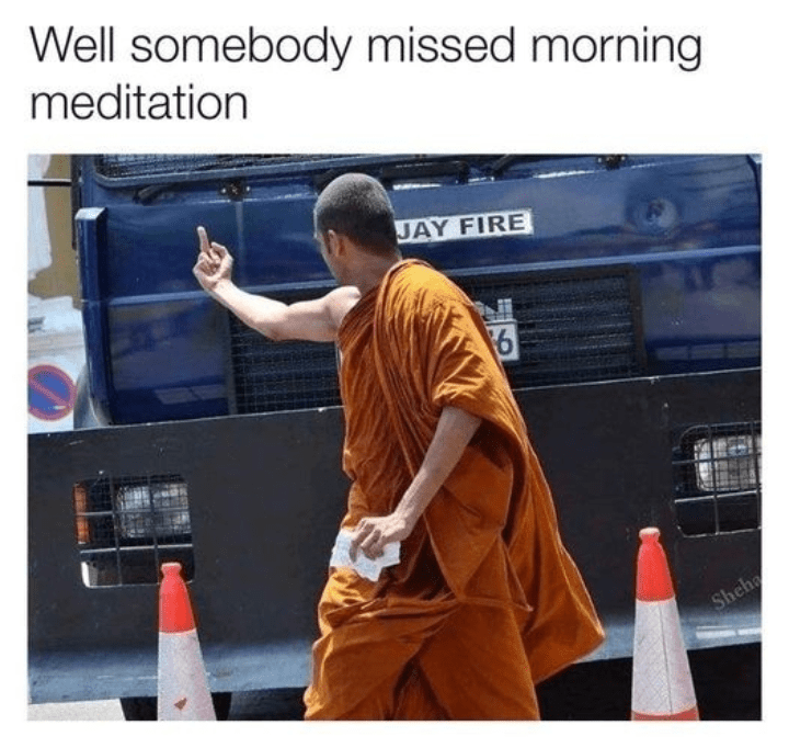 Workwear - Well somebody missed morning meditation JAY FIRE Sheha