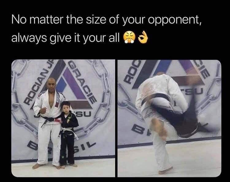 Trousers - No matter the size of your opponent, always give it your all SU SU SIL CIE GRACIE ROCIAN JA