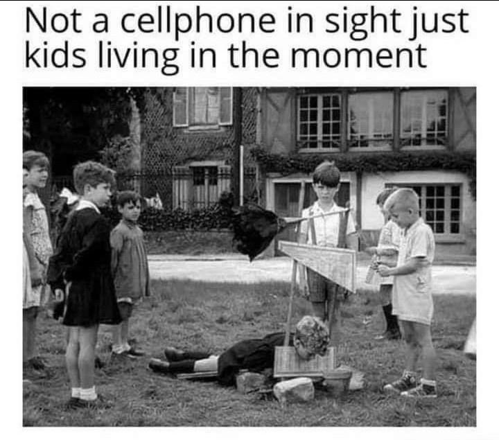 Footwear - Not a cellphone in sight just kids living in the moment