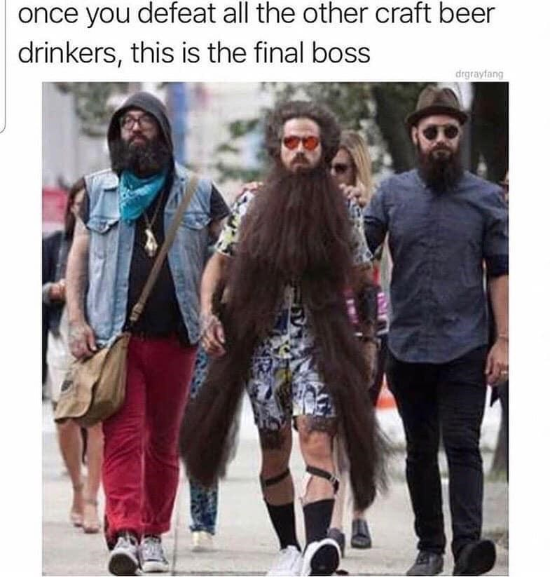 Clothing - once you defeat all the other craft beer drinkers, this is the final boss drgrayfang