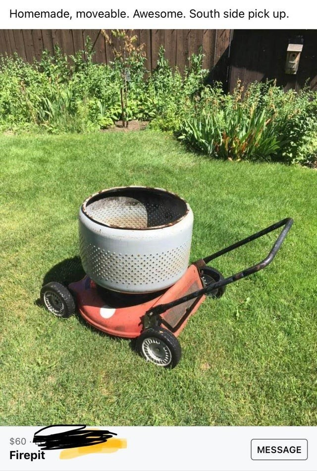 Tire - Homemade, moveable. Awesome. South side pick up. $60 MESSAGE Firepit
