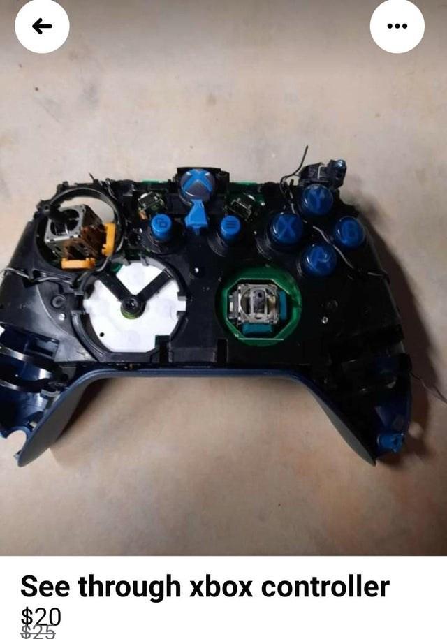 Game controller - See through xbox controller $20 $25