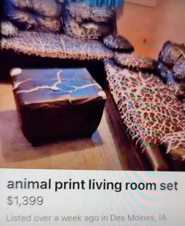 Cloud - animal print living room set $1,399 Listed over a week ago in Des Moines, IA