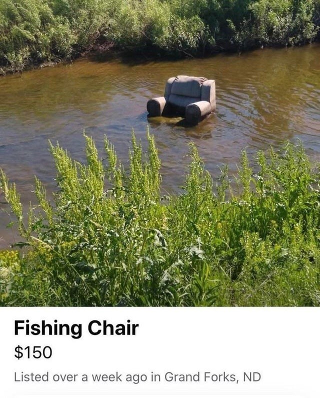 Water - Fishing Chair $150 Listed over a week ago in Grand Forks, ND