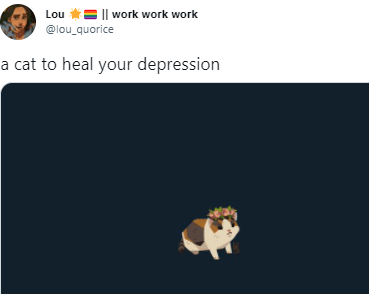 Organism - Lou *= || work work work @lou_quorice a cat to heal your depression