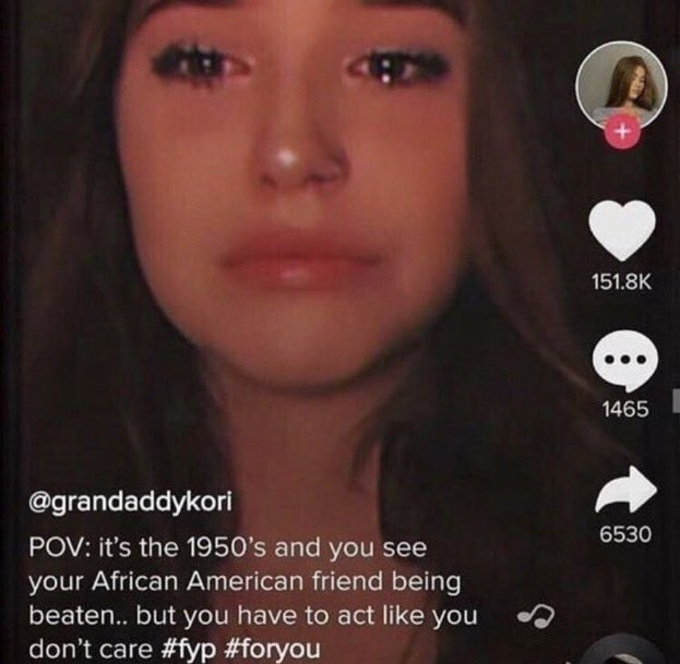 Nose - 151.8K 1465 @grandaddykori 6530 POV: it's the 1950's and you see your African American friend being beaten... but you have to act like you don't care #fyp #foryou