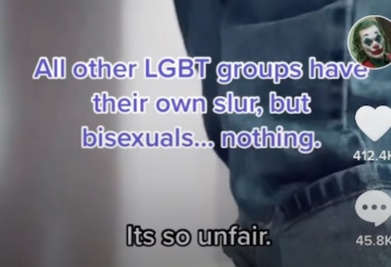 Organism - All other LGBT groups have their own slur, but bisexuals. nothing. 412.4H Its so unfair. 45.8K